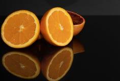 Оранжевый сочно Макрос плодоовощи витамин Красный стоковые фотографии rf