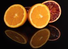 Оранжевый сочно плодоовощи витамин Макрос Красный стоковые изображения