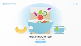Органическая здоровая еда иллюстрация вектора