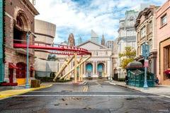 ОРЛАНДО, ФЛОРИДА, США - ДЕКАБРЬ 2018: Публичная библиотека Нью-Йорка на студиях Universal стоковые изображения rf