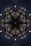 Орнаментальная флористическая темная предпосылка декоративный сбор винограда элементов бесплатная иллюстрация
