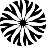 Орнамент мандалы вектора конспекта черно-белый, пропуская картина цветка, иллюстрация иллюстрация вектора