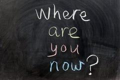 Où êtes-vous maintenant ? photo stock