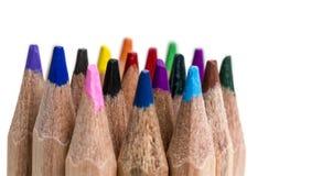 ołówek barwione wskazówki zdjęcie stock