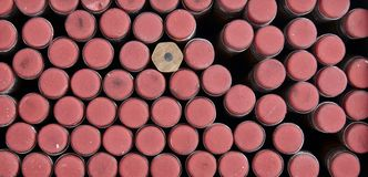Ołówek Gumka Kolor żółty i Srebro, Rewolucjonistka, -2 Obrazy Stock