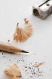 Ołówek i ostrzarka Fotografia Stock