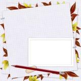 ołówek karciana papierowa szkoła Fotografia Royalty Free
