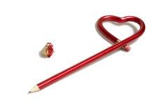 ołówek miłości. Obraz Stock
