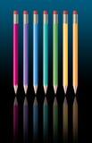 ołówków jpg rainbow royalty ilustracja