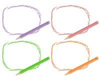 Ołówków kolorów ramy ilustracji
