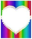 ołówka barwiony kierowy kształt royalty ilustracja
