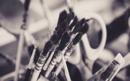 Ołówka I Paintbrush sztuki narzędzia set zdjęcia royalty free