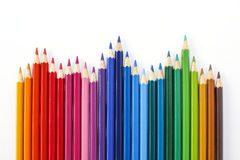 Ołówka kolor na białym tle Fotografia Stock