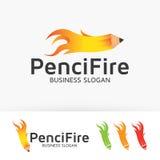 Ołówka ogień Obrazy Stock