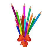 Ołówki bandażujący z czerwonym faborkiem z łękiem Zdjęcie Stock
