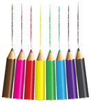 Ołówki colour z białym backround royalty ilustracja