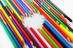 Ołówki i serce zdjęcia stock