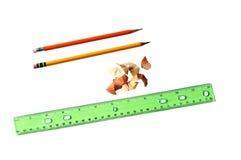 Ołówki i władca Obraz Stock