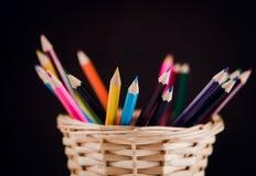 Ołówki na tle Fotografia Royalty Free