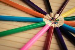 Ołówki na tle Obraz Stock