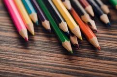 Ołówki na tle Zdjęcia Stock