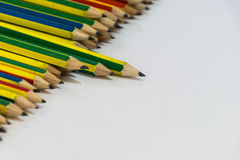 Ołówki odizolowywający Zdjęcia Royalty Free