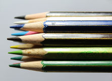 ołówki ustalić kolorów Obrazy Royalty Free
