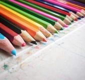 ołówki ustalić kolorów Obrazy Stock