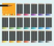 ołówki ustalić kolorów Zdjęcia Royalty Free
