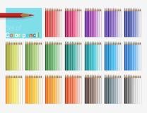 ołówki ustalić kolorów Obraz Stock