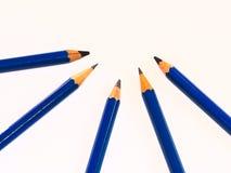 Ołówki w differents stopniach obrazy stock