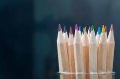 Ołówki w szklanym słoju Fotografia Royalty Free