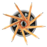 Ołówki w właścicielu 1 zdjęcia royalty free