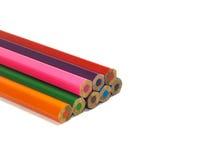 Ołówki wszystko barwią na białym tle Obraz Royalty Free