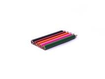 Ołówki wszystko barwią na białym tle Zdjęcia Stock