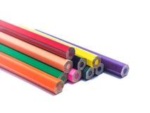 Ołówki wszystko barwią na białym tle Zdjęcie Royalty Free
