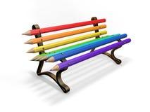 Ołówkowa ławka odizolowywająca na bielu Obrazy Royalty Free