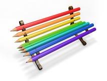 Ołówkowa ławka odizolowywająca na bielu Zdjęcie Royalty Free