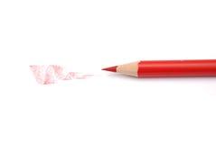 ołówkowa czerwień Obrazy Stock