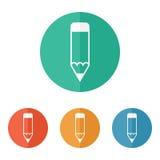 Ołówkowa ikona Fotografia Royalty Free