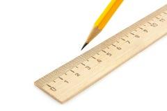 ołówkowa władca Fotografia Stock