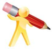 Ołówkowa złocista osoba Zdjęcia Stock