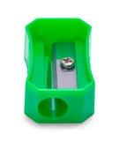 Ołówkowej ostrzarki zieleni przód zdjęcie stock