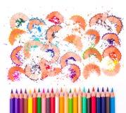 Ołówkowi kolory Obrazy Stock