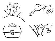 ołówkowi nakreślenia Obrazy Royalty Free