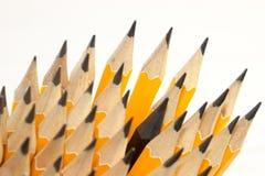 Ołówkowi prącia w karambol , Biznesowi pomysły obraz stock