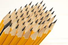 Ołówkowi prącia w karambol , Biznesowi pomysły fotografia stock