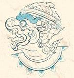 Ołówkowy nakreślenie władyka Hanuman Obrazy Royalty Free
