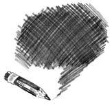 Ołówkowy podcieniowanie. Doodle ilustracja wektor