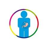 Żołądek osoba przy ris Obrazy Royalty Free
